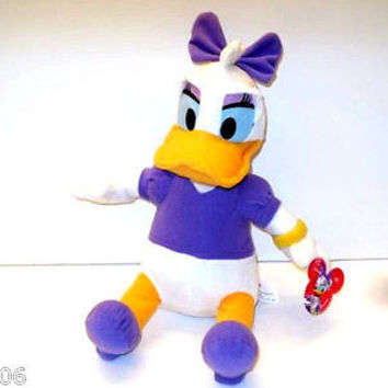 "DISNEY 12"" DAISY MRS. DONALD DUCK PLUSH TOY-LICENSED STUFFED TOY-DISNEY PLUSH"