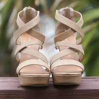 Chinese Laundry Monami Caged Wedges
