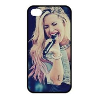 DesignerDIY Custom Cool Cover Pop Rock Singer Series Demi Lovato TPU Shell Case For iphone 4/4s Iphone4Mar9022