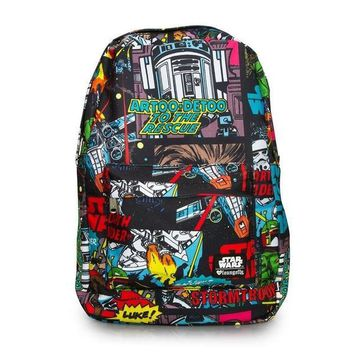 Loungefly Star Wars Comic Book Panel Laptop Backpack