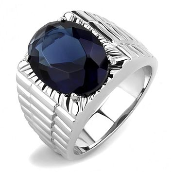 WildKlass Stainless Steel Ring High Polished Men Synthetic Montana