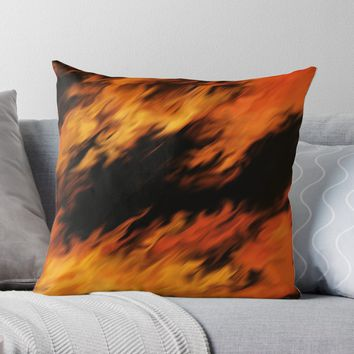 'Infernal Agni #fire #burn' Throw Pillow by Kerry-Symetria