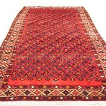 Runner Persian 3 x 9 Flame - Boteh All-Over Passion Symbols Red Hamadan Rug