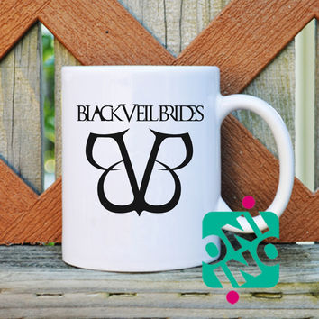 Black Veil Brides Logo Coffee Mug, Ceramic Mug, Unique Coffee Mug Gift Coffee