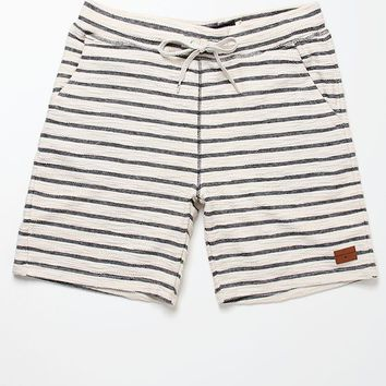 Modern Amusement Slubby Stripe Shorts - Mens Shorts - Black