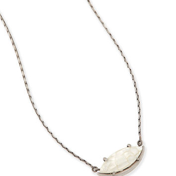 Kendra Scott Meghan Pendant Necklace In Crackle Ivory Pearl