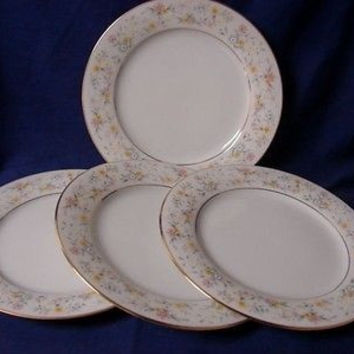 Noritake, China Dinnerware Delevan,Japan Pattern #2580 Set 4 Salad plate