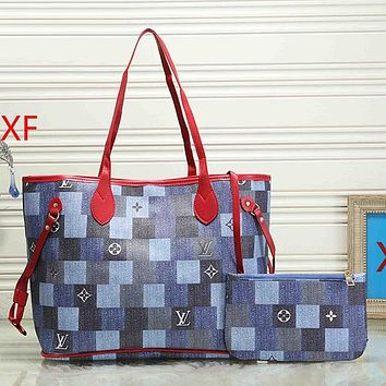 Louis Vuitton LV Women Leather Handbag Tote Satchel