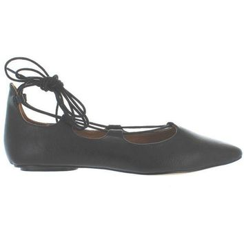 VONES2C Chelsea Crew Gigi - Black Fancy Lace-Up Ballet Flat
