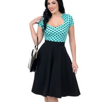 Mint & Black Polka Dot Sophia Top