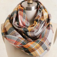 Extra Credit Plaid Scarf