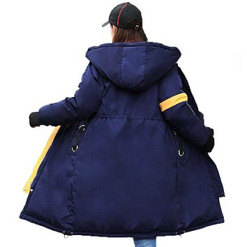 WAEOLSA Winter Woman Hooded Parkas Both Side 2 Way Wear Overcoat Women Long Hood Puffer Jackets Basic Coat Lady Hood Puff Jacket
