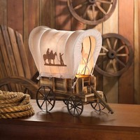 WESTERN WAGON TABLE LAMP