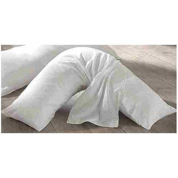 V Boomerang Shaped- Premium Neck and Back Pillow for Side Sleepers- Includes Zippered Cover