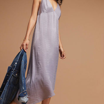 Thyra Asymmetric Slip Dress, Purple