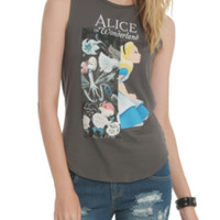 Disney Alice In Wonderland Muscle Girls Top