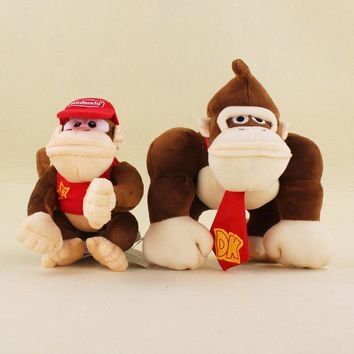 Super Mario party nes switch  Plush Toys Cartoon Stuffed Animals Doll Monkeys and Donkey Kong For kids Best Christmas Birthday Gifts 2Pcs/Set AT_80_8
