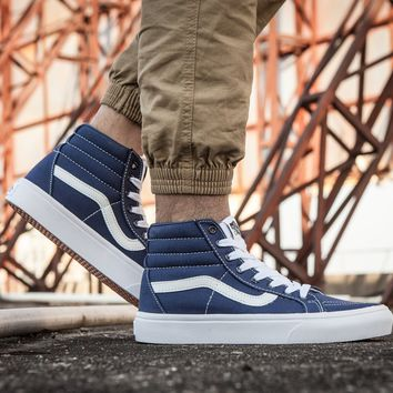 PEAPON Vans Sk8-Hi F177 High Top Leather With Fur Warm Casual Sneakers Sport Shoes