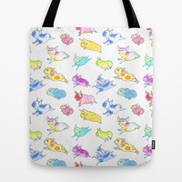 Fabulous Flying Frenchies Tote Bag by InkPug   Society6