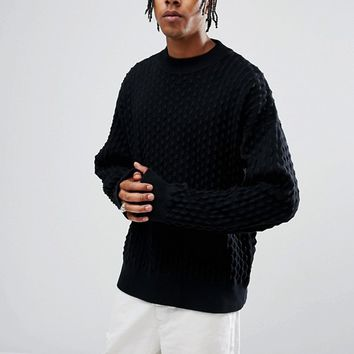 Weekday Mono Sweater at asos.com