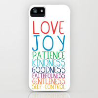 Fruits of the Spirit: Rainbow iPhone Case by PrintableWisdom | Society6