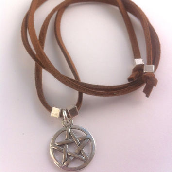 Pentagram necklace, petagram bracelet, pentagram anklet, pentagram choker, Protection necklace, supernatural necklace, protection amulet