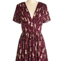 Short Sleeves A-line Marvelous Maraschino Dress in Paris