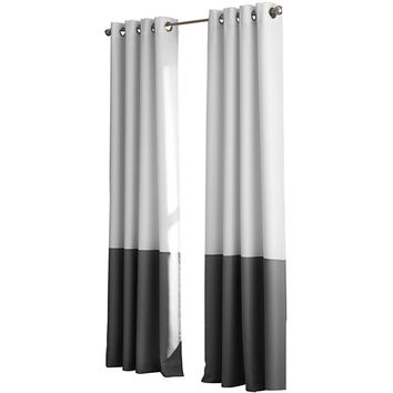 Kendall Lined Colorblock Grommet-Top Curtain Panel - JCPenney