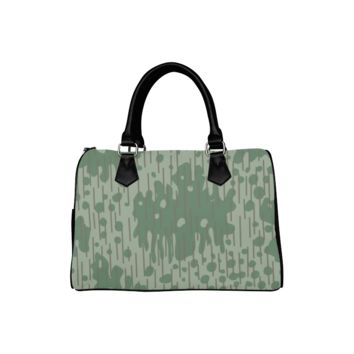 Personalized Women Bag Retro Green Camouflage Boston Top Handbag