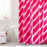 Tie Dye Shower Curtain, Pink Magenta