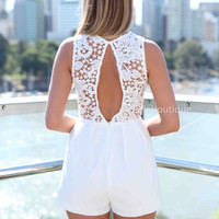 WE SAY SUMMER PLAYSUIT , DRESSES, TOPS, BOTTOMS, JACKETS & JUMPERS, ACCESSORIES, SALE, PRE ORDER, NEW ARRIVALS, PLAYSUIT, COLOUR,,White,LACE Australia, Queensland, Brisbane