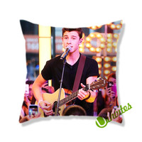 Shawn Mendes Playing Guitar Square Pillow Cover