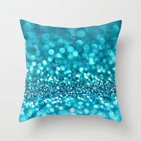 omg-another glitter picture (photograph of glitter) Throw Pillow by Sylvia Cook Photography | Society6