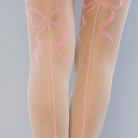 The Bowtime Backseam Tight in Nude : Betsey Johnson  : Karmaloop.com - Global Concrete Culture