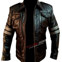 Resident Evil 6 Leon S. Kennedy Black Leather Jacket