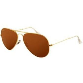 Gouka 2019 New Rayban Original 3026 Aviator Unisex Sunglasses Dark Brown