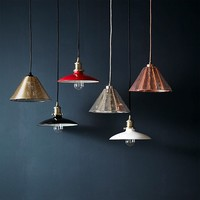 Enameled Metal Industrial Pendants