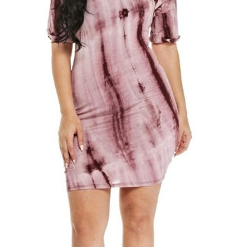 Marble T-Shirt Dress - Curvaceous
