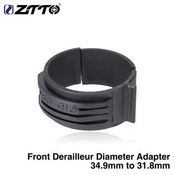 ZTTO Bicycle Front Derailleur Diameter Adapter ring 34.9mm To 31.8mm Clamp For Chromium molybdenum Steel frame road Bike MTB