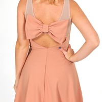 A Bow Affair Dress: Mauve - Hope's Boutique