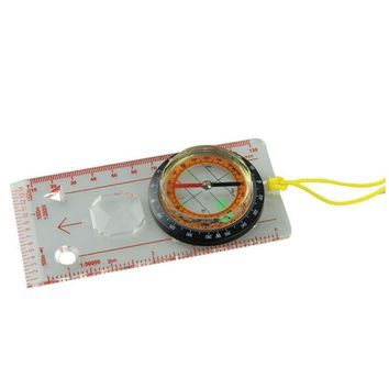 Outdoor Camping Directional Hiking Compass Baseplate Ruler Map Scale Compass#YL