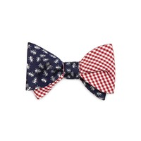 Men's Red Gingham and Picnic Ants Reversible Bow Tie | Brooks Brothers
