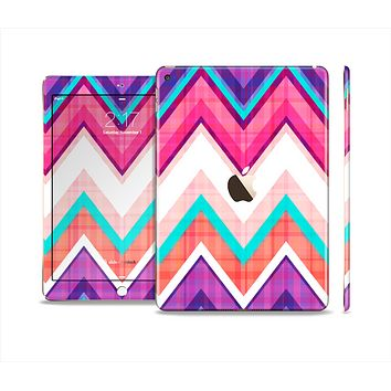 The Vibrant Teal & Colored Chevron Pattern V1 Skin Set for the Apple iPad Air 2