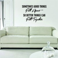 So Better Things Can Fall Together Marilyn Monroe Quote Decal Wall Vinyl Art