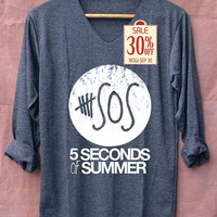 5SOS Shirt Five Second of Summer Shirts Long Sleeve Unisex Adults Size S M L