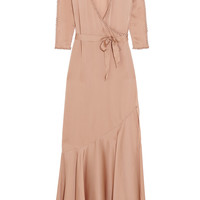 Agent Provocateur - Francis faux pearl-embellished silk-satin robe