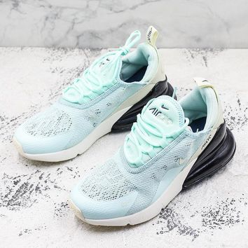 Nike Air Max 270 GS Flyknit Mint Green Running Shoes
