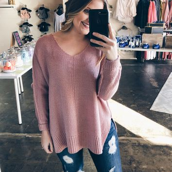 Call It What You Want Sweater - Mauve