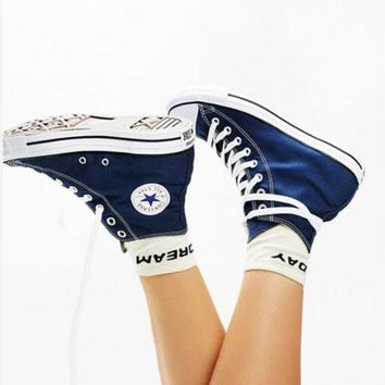 DCCKHD9 Converse All Star Sneakers Adult Leisure High-Top Leisure shoes Navy blue