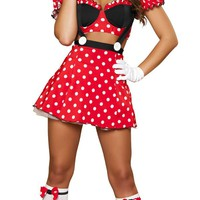 Sexy Pin Up Girl Minnie Mouse Halloween Costume